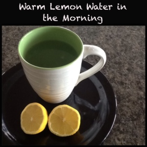 Warm Lemon Water in the Morning
