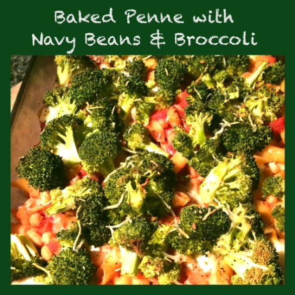 Baked Penne with Navy Beans and Broccoli
