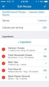 Caprese Salad Stacks - Nutrition Info