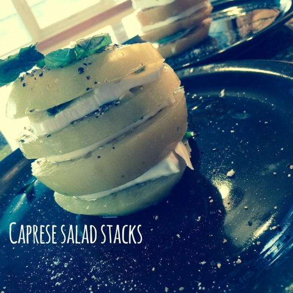 caprese salad stacks - pic