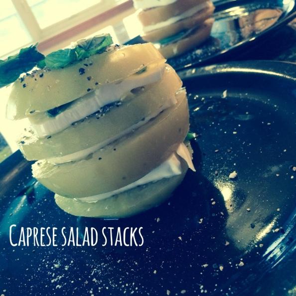 caprese salad stacks - pic