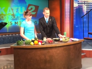 KATU News Guest Spot Blueberry Quinoa Salad